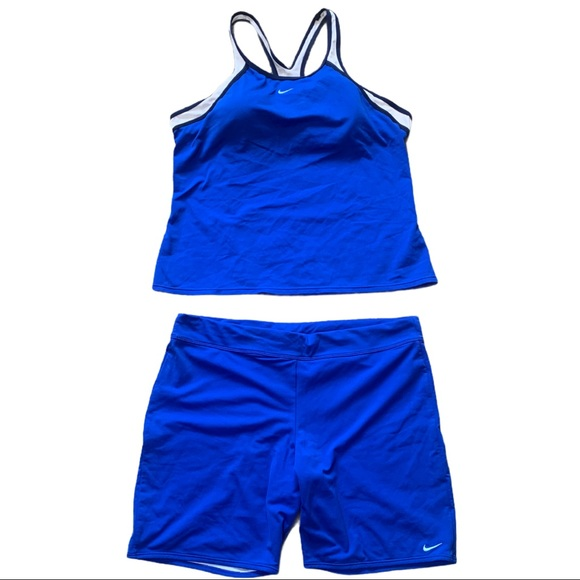 Nike Blue Tank Top and Matching Short Set Size 16